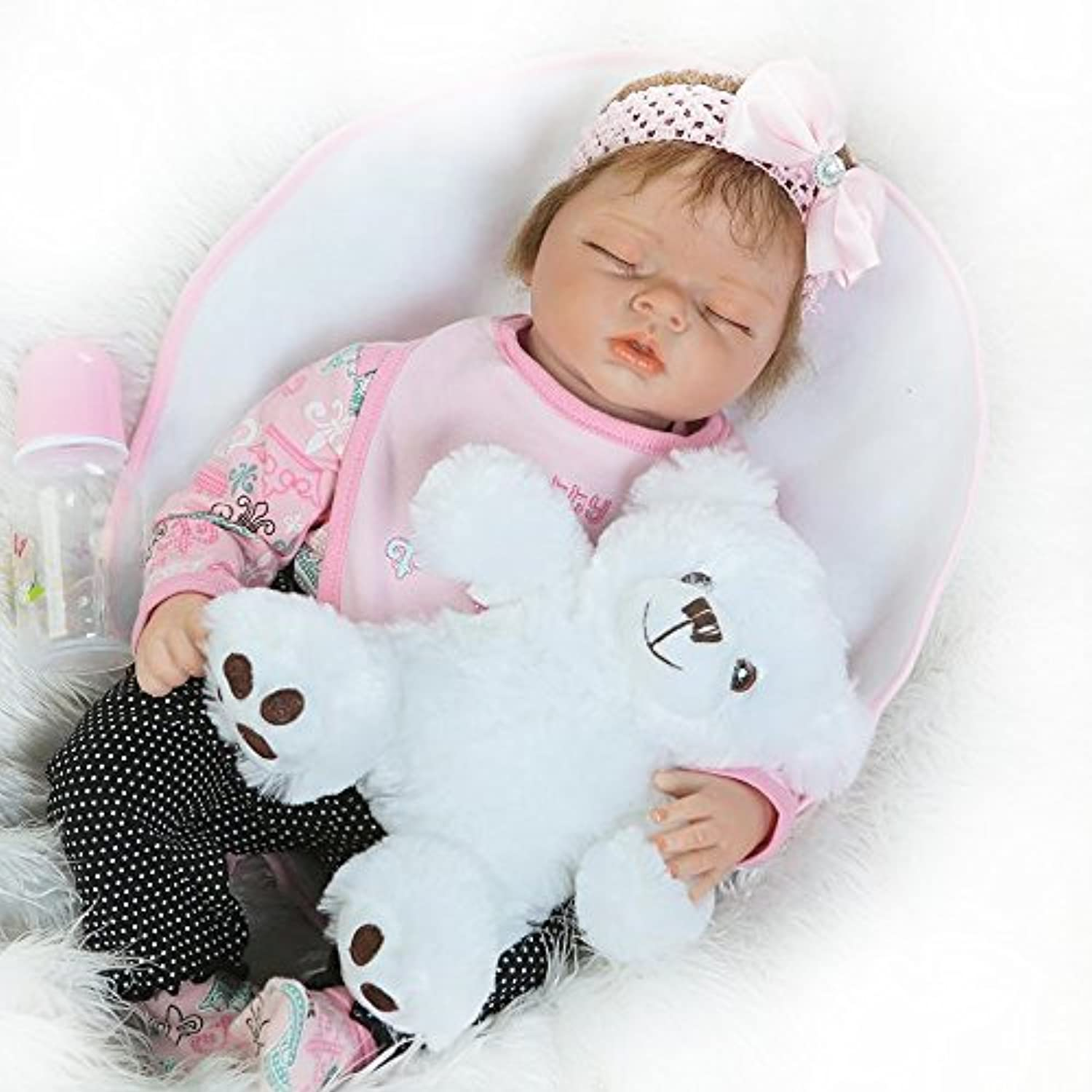 Realistic Reborn Girls Real Looking Lifelikeベビー人形55 cm Sleeping Toys Gift for Toddlers