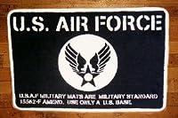 U.S.エアフォース 旧ロゴ柄 フロアマット ラグ JSUSAF