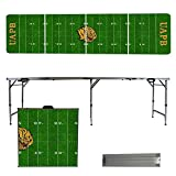 NCAA Arkansas Pine Bluff Golden Lions Football Field Version 8-Feet Folding Tailgate Table [並行輸入品]