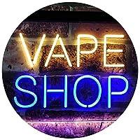 Vape Shop Indoor Display Dual LED看板 ネオンプレート サイン 標識 Blue & Yellow 400 x 300 mm st6s43-i3018-by