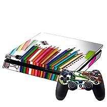 SONY 新型PS4 専用スキンシール スリム 薄型 プレイステーション専用 スキンシール 裏表 全面セット カバー ケース 保護 フィルム ステッカー デコ アクセサリー 写真・風景 写真 文房具 005932