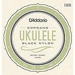 D'Addario ダダリオ ウクレレ弦 Pro-Arté Rectified Black Nylon Soprano EJ53S 【国内正規品】
