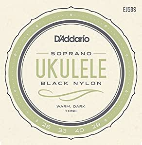 D'Addario ダダリオ ウクレレ弦 Pro-Arté Rectified Black Nylon Soprano EJ53S 【国内正規品】