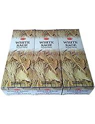 ホワイトセージ香 スティック 3BOX(18箱)/HEM WHITE SAGE/ インド香 お香 [並行輸入品]