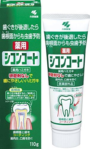 シコンコート 研磨剤無しで歯にやさしい 薬用ハミガキ 虫歯予防 研磨剤無配合 ミントの香り 110g