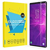 Samsung Galaxy Note 9 フィルム - ATiC Samsung Galaxy Note 9 液晶保護強化ガラスフィルム 3D曲面デザイン 表面硬度9H/耐衝撃/高透明度/指紋防止/気泡ゼロ - Clear