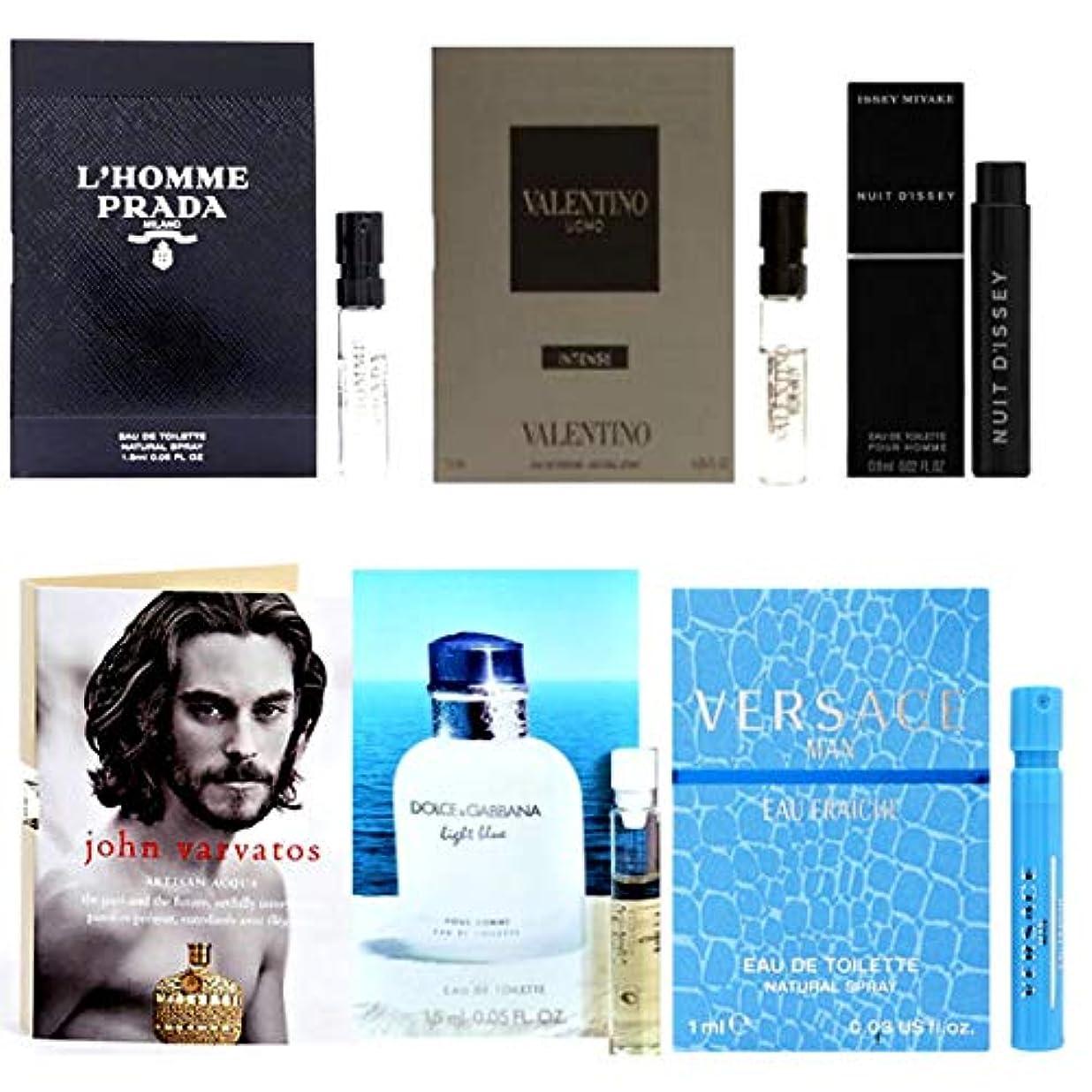記憶全員バングラデシュ男性用 Eau de Parfum (Eau de Toilette) For Men Samples 6/set [海外直送品] [並行輸入品]