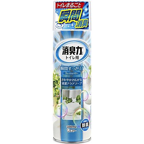 トイレの消臭力スプレー 消臭芳香剤 トイレ用 トイレ アクアソープの香り 330ml