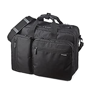 サンワダイレクト 3WAYビジネスバッグ マチ拡張機能・鍵付き 自転車通勤 にも 16.4 型ワイドまで対応 200-BAG048