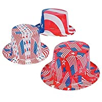 Fun Express Patriotic Hats - 12 pieces [並行輸入品]