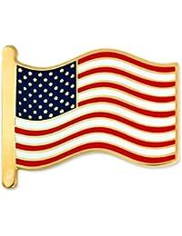Pinmart 's American Flag Patriotic七宝焼きエナメルラペルピン 100