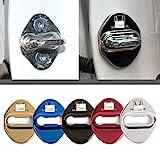 4枚セット 5色選択可 ホンダ Honda ストライカー カバー ドアロック カバー メッキ 高品質 鏡面ステンレススト ホンダ全車種対応 ホンダ社外品 (ブラック)