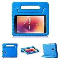 Samsung Galaxy Tab A 8.02017ケース–ltropキッズケース耐衝撃ケース軽量スーパー保護カバーハンドルスタンドケースfor Kids子供のSamsung Galaxy Tab A 8インチ2017リリースタブレット–ブルー