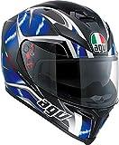 AGV エージーブイ K-5 S Hurricane Helmet 2017モデル ヘルメット ブラック/ブルー ML(58cm)