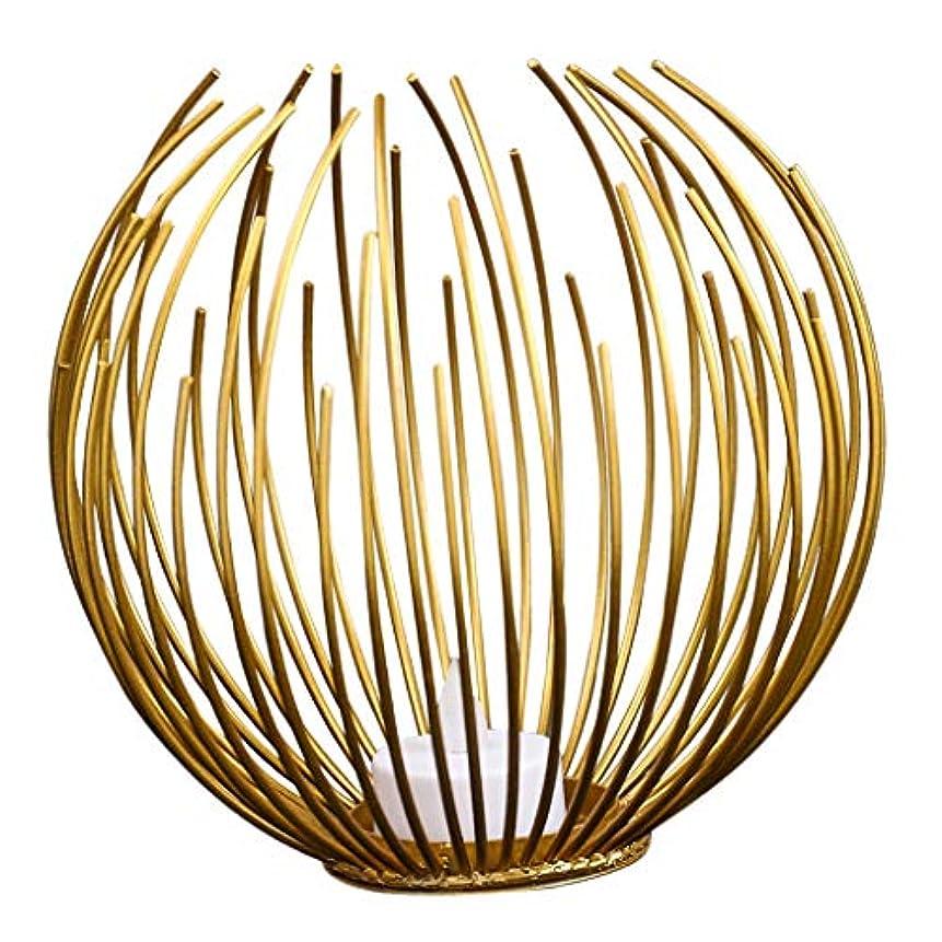 半球中央くぼみLEDキャンドルライト インテリア 結婚式 電気式 ledキャンドル カフェ リビングルーム 装飾 ゴールデン