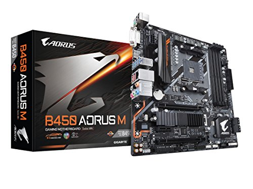GIGABYTE B450 AORUS M M-ATX マザーボード AMD MB4534 B07FWY246F 1枚目