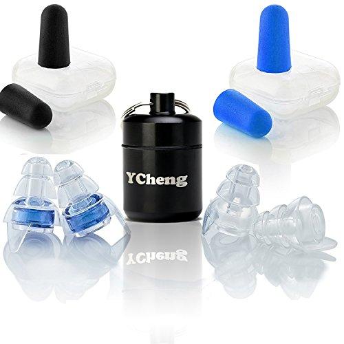 耳栓 ライブ 睡眠 イヤープラグ 防音 安眠 いびき 旅行 飛行機 騒音フィルター付き 遮音値23DB 水洗い可 3種入り 携帯ケース付き