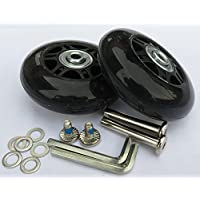 Eric_Leon 2 Set of Luggage Suitcase Wheels with ABEC 608zz Bearings, Packaged with Our own Designed Bag Logo