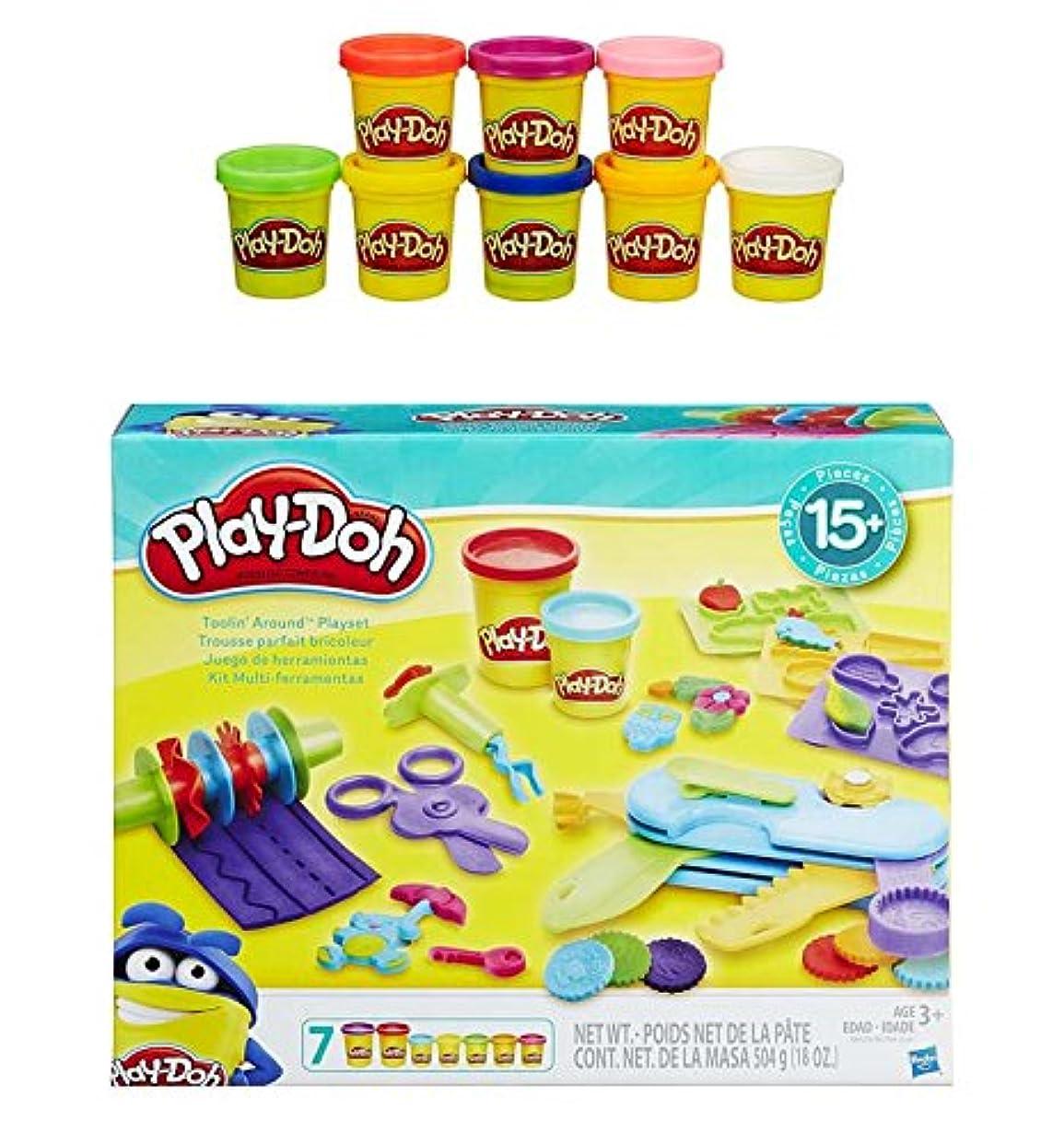 Play-Doh Toolin Around Playset + Play-Doh Rainbow Starter Pack Bundle