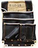 カクイ カドゴム最高級腰袋 エバー皮黒仮枠袋 GE-2B