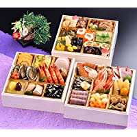 京都 しょうざん おせち料理 2019 千ヶ峰 三段重 46品 盛り付け済み 冷蔵おせち 3人前~4人前 お届け日:12月31日