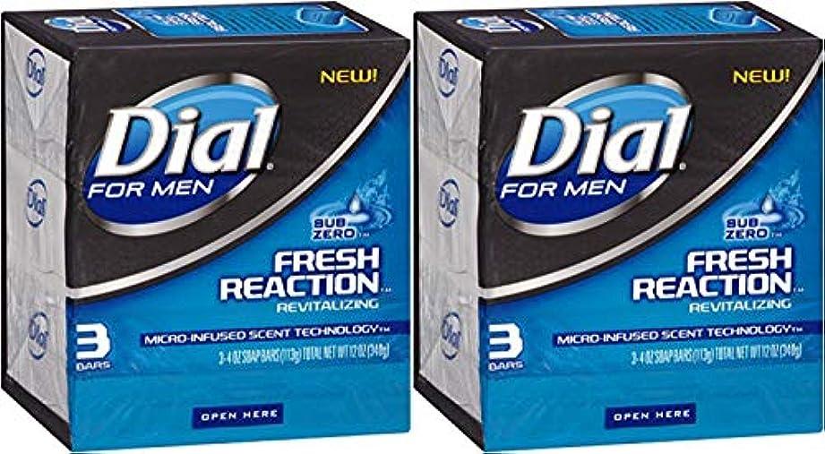 才能新聞歯科のDial 男性の新鮮な反応固形石鹸の場合、サブ?ゼロ、4オンスのバー、3カウント(2パック)
