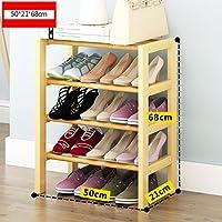 靴のラック天然木のシンプルな靴のブーツラックのストレージオーガナイザーホルダー多層多機能ストレージシェルフ (サイズ さいず : 50 * 21 * 68cm)