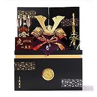 久月 コンパクト 収納飾り 6号 赤糸縅兜 1048 五月人形