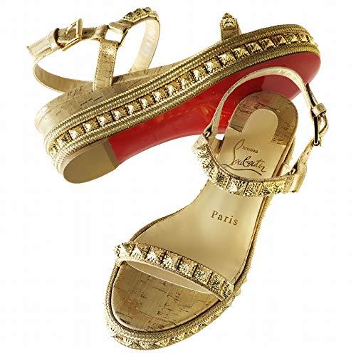 [クリスチャンルブタン] CHRISTIAN LOUBOUTIN サンダル ウェッジサンダル PYRADIAMS 60mm レディース シューズ 靴 サンダル 1191087 0010 GD21 [並行輸入品]