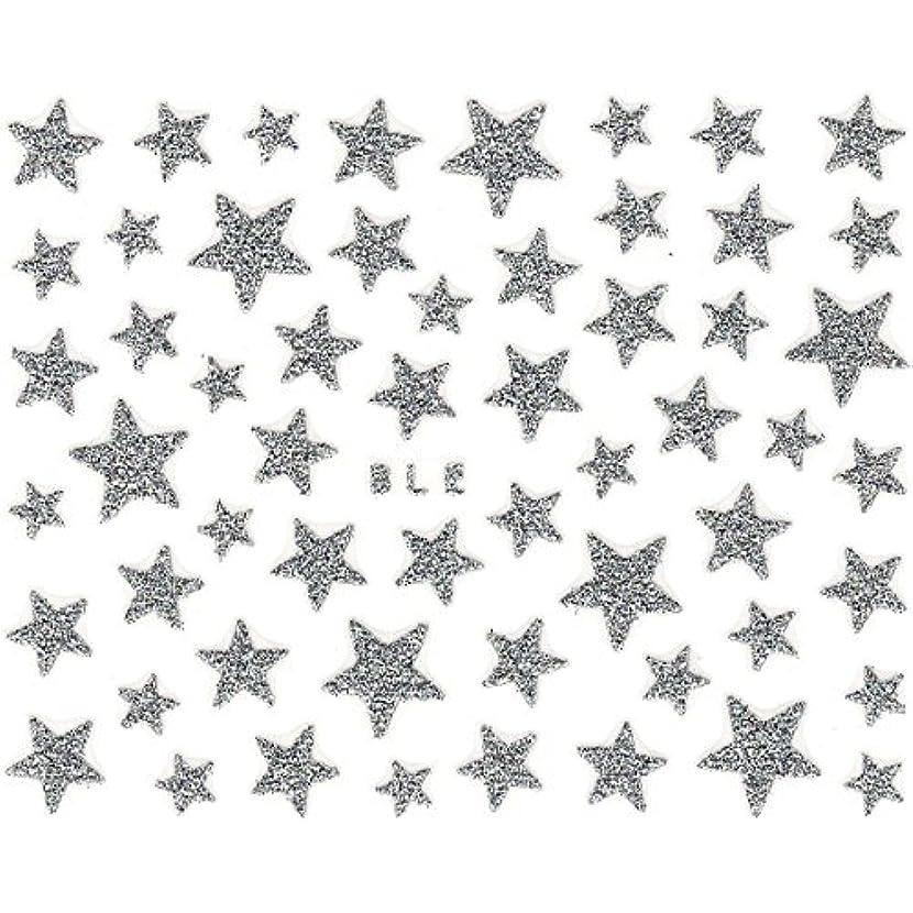 大気姪方法論ネイルシール ラメ スター 星 選べる10種類 (H-01/シルバー)