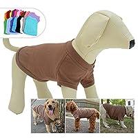 2019ペットTシャツ衣類100%コットンコスチュームパピー犬の服ブランクTシャツ大きなミディアム小型犬のTシャツ Coffee M