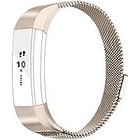 Vancle バンド for Fitbit Alta HR/Fitbit Alta ステンレス鋼 バンド 交換ベルト for Fitbit Alta 2016 / Fitbit Alta HR 2017 ユニークなマグネットロック付き(追跡装置でない)