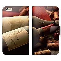 フート?・ト?リンク 手帳型 HUAWEI P9 EVA-L09 (P000603_04) ワイン コルク ビンテージ 酒 スマホケース その他 SIMフリー