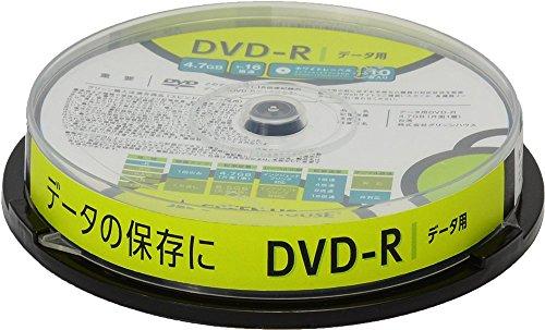 グリーンハウス DVDーR データ用 4.7GB 1ー16倍速 10枚スピンドル インクジェット対応 GH-DVDRDB10 1個
