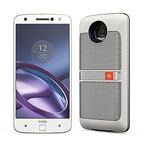 Motorola(モトローラ)SIMフリースマートフォン Moto Z (ホワイト / 64GB / Mods ホワイト スピーカー 付)