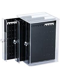 (Bihako) ピアスケース ピアススタンド 大容量 収納 ピアス 249個 透明 全2種 (ブラック)