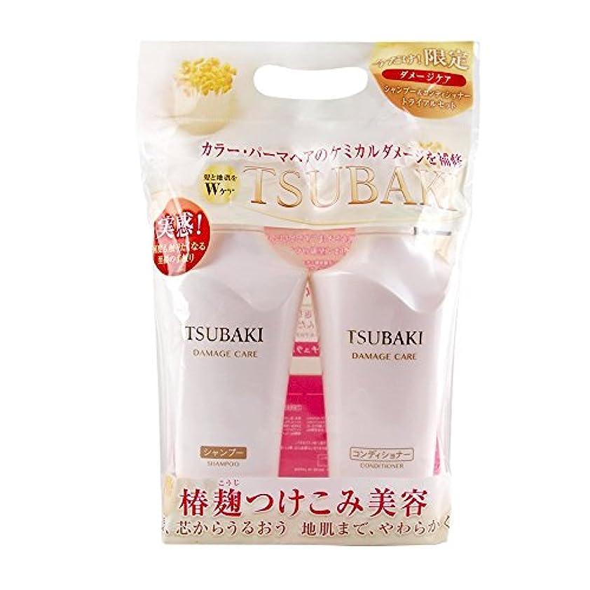 敬なマダム工場TSUBAKI ダメージケア シャンプー&コンディショナー ジャンボペアセット (500ml+500ml)