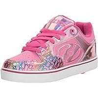 Heelys Girls' Motion Plus Sneaker, Pink/Light Pink/Multi, 2 M US Big Kid