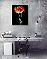 絵画 風景画 ポピーズ C LB アートパネル 絵画 インテリア 壁掛けアート (額付きの完成品 40*50cm)