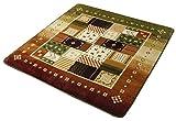 イケヒコ ラグ カーペット 2畳 洗える 北欧 なめらかタッチ フランネル 『ラスコー』 グリーン 約185×185cm ホットカーペット対応 ♯5634009