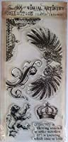 Tim Holtz Collection clear stamps- regal flourish #2663 by Lgp