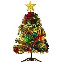 acetek クリスマスツリー 50cm 卓上 ミニツリー クリスマス飾り LEDイルミネーション 20点セット オーナメント おしゃれ キラキラ 雰囲気満々 暖かい 簡単な組立品 飾り 部屋 商店 おもちゃ プレゼント