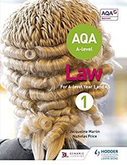 AQA A-level Law for Year 1/AS (A Level Law) by [Martin, Jacqueline, Price, Nicholas]