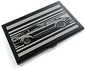 ブラックアルマイト「日産(NISSAN) フェアレディZ S30 240ZG」切り絵デザインのカードケース[CC-085]