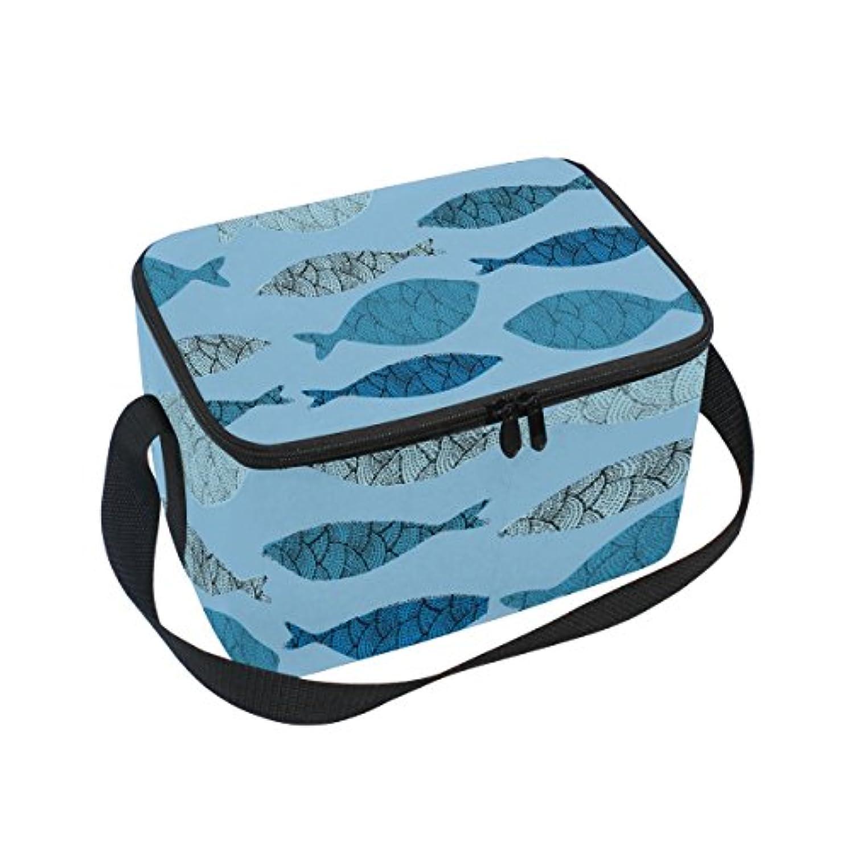 温度アラブ吸収クーラーバッグ クーラーボックス ソフトクーラ 冷蔵ボックス キャンプ用品 魚柄 個性的 保冷保温 大容量 肩掛け お花見 アウトドア