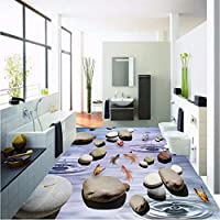 Wuyyii 壁紙カスタム壁紙壁画パーソナリティ3D石造りの床厚耐摩耗性浴室の床の絵壁紙-350X250Cm