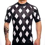 SUREA サイクルジャージ サイクルウェア 通気速乾 新型生地 メンズ 半袖 春夏用 シャツ フィット感重視 自転車ウェア サイクリングウェア Mサイズ