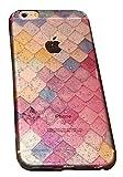 (ポルトプエルト) iPhone 7/7 Plus ケース カバー 人魚 マーメイド カラフル 水滴 TPU ソフト ピンク 透明 クリア かわいい ロマンチック 乙女 女子 アイフォン ( iPhone 6/6 Plus/6s/6s Plus ) (iPhone 6/6s, ピンク)