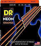DR ベース弦 NEON ニッケルメッキ オレンジ カラー コーテッド .045-.105 NOB-45