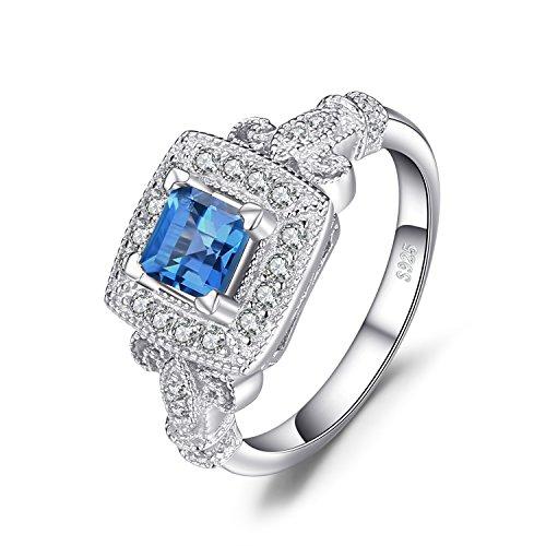 [해외]JewelryPalace 조각 1ct 천연석 런던 블루 토파즈 칵테일 반지 스털링 실버 925/JewelryPalace sculpture 1ct Gemstone London Blue Topaz Cocktail Ring Sterling 925